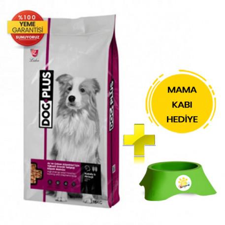 DogPlus Kuzu Etli Yüksek Enerjili Yetişkin Köpek Maması 15 Kg