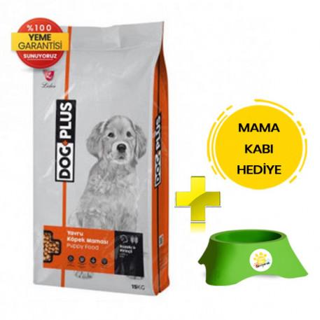 DogPlus Kuzu Etli Pirinçli Yavru Köpek Maması 15 Kg