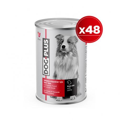 DogPlus Kuzu Etli Köpek Konservesi 415 Gr x 48 Adet