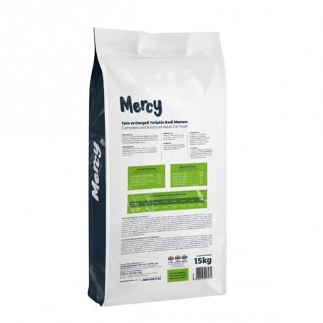 Mercy Tavuklu Yetişkin Kedi Maması 15 Kg + 3 Adet CatPlus Balıklı Kedi Konservesi