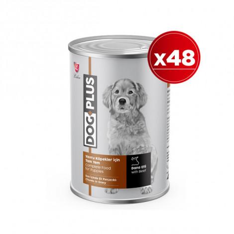 DogPlus Biftekli Yavru Köpek Konservesi 415 Gr x 48 Adet