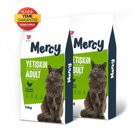 Mercy Tavuklu Yetişkin Kedi Maması 15 Kg x 2 Adet