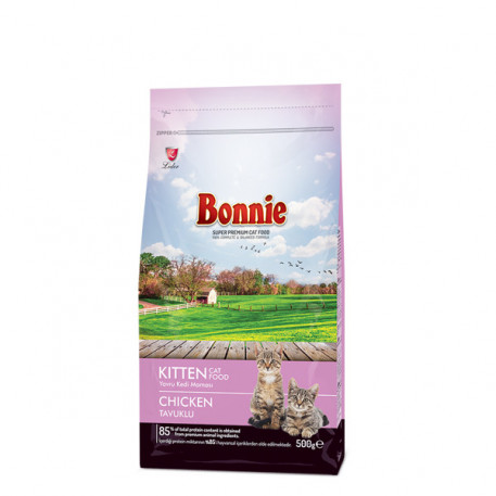 Bonnie Tavuklu Yavru Kedi Maması 500 Gr