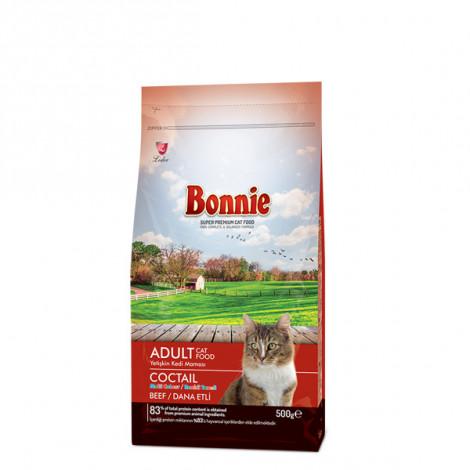 Bonnie Renkli Taneli Dana Etli Yetişkin Kedi Maması 0,5 Kg