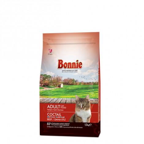 Bonnie Renkli Taneli Dana Etli Yetişkin Kedi Maması 1,5 Kg