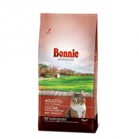 Bonnie Renkli Taneli Dana Etli Kedi Maması 15 Kg