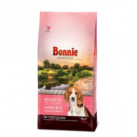 Bonnie Kuzu Etli ve Pirinçli Yetişkin Köpek Maması 15 KG