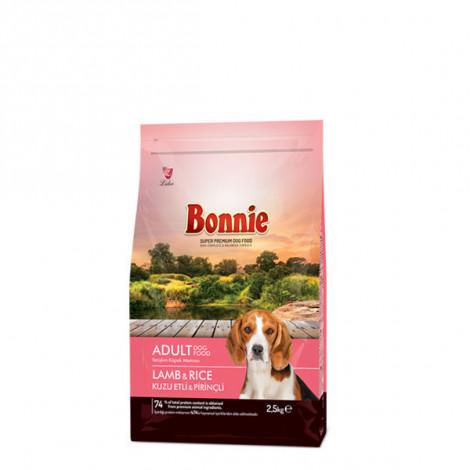 Bonnie Kuzu Etli ve Pirinçli Yetişkin Köpek Maması 2.5 KG