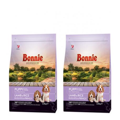 Bonnie Kuzulu Ve Pirinçli Yavru Köpek Maması 2.5 Kg x 2
