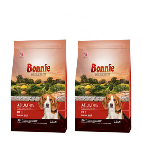 Bonnie Biftekli Yetişkin Köpek Maması 2,5 Kg x 2