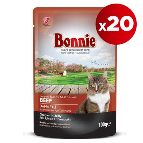 Bonnie Dana Etli Kedi Pouch 100 Gr x 20