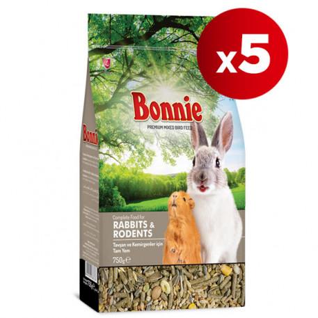 Bonnie Tavşan ve Kemirgen Yemi 750 Gr x 5