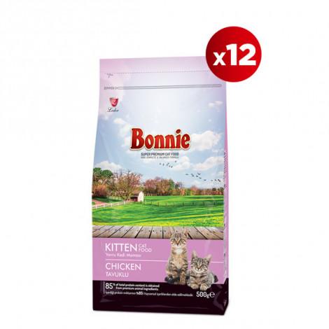 Bonnie Tavuklu Yavru Kedi Maması 0,5 Kg x 12