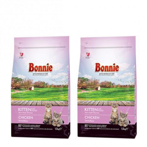 Bonnie Tavuklu Yavru Kedi Maması 1,5 Kg x 2