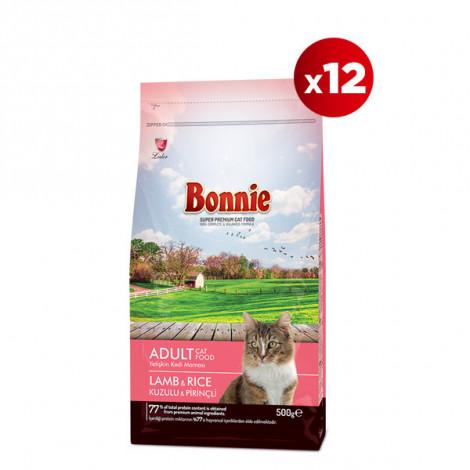 Bonnie Kuzu Etli Prinçli Yetişkin Kedi Maması 0.5 Kg x 12
