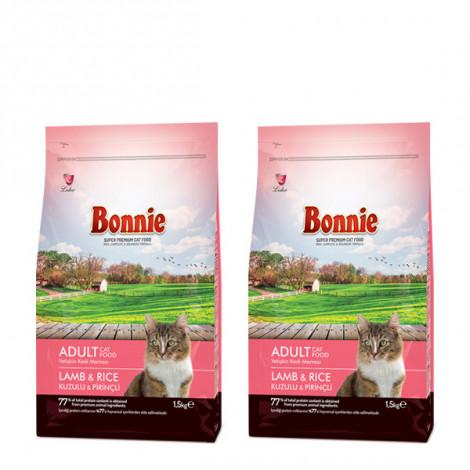 Bonnie Kuzu Etli Prinçli Yetişkin Kedi Maması 1.5 Kg x 2