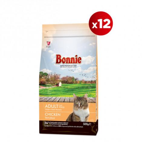 Bonnie Tavuklu Yetişkin Kedi Maması 0,5 Kg x 12