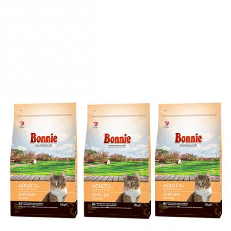 Bonnie Tavuklu Yetişkin Kedi Maması 1,5 Kg x 3