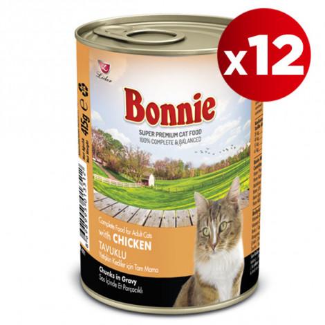 Bonnie Tavuklu Kedi Konservesi 415 Gr x 12