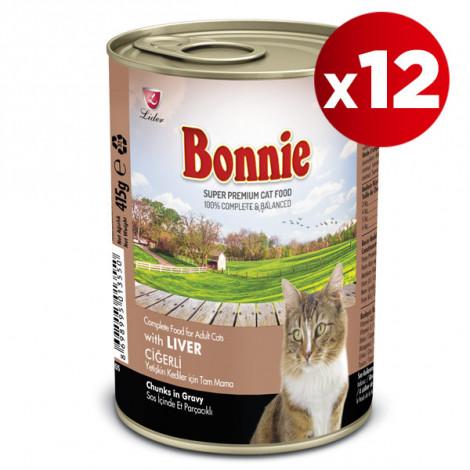 Bonnie Ciğerli Kedi Konservesi 415 Gr x 12