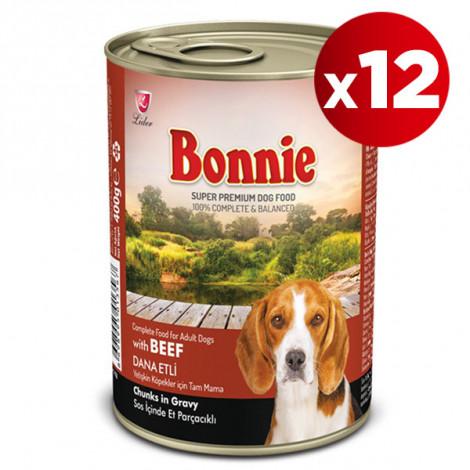 Bonnie Dana Etli Köpek Konservesi 415 Gr x 12