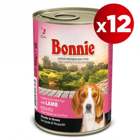 Bonnie Kuzu Etli Köpek Konservesi 415 Gr x 12