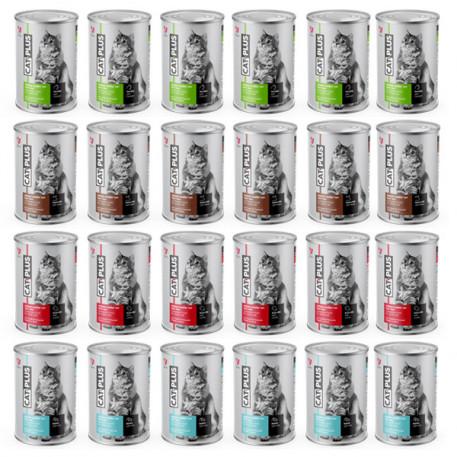 CatPlus Karışık Kedi Konservesi 415 Gr x 24 Adet