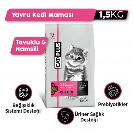 CatPlus Yavru Kediler İçin Tavuklu - Hamsili Mama (1,50 KG X 2)