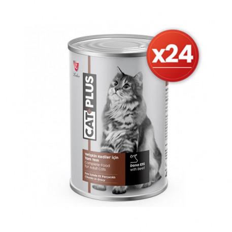 CatPlus Biftekli Kedi Konservesi 415 Gr x 24 Adet