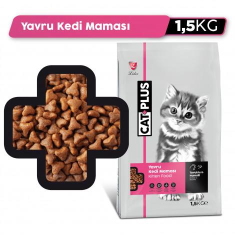 CatPlus Yavru Kediler İçin Tavuklu - Hamsili Mama
