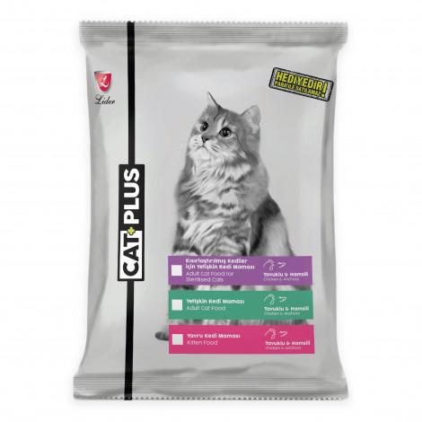 CatPlus Yetişkin Kediler İçin Tavuklu - Hamsili Mama
