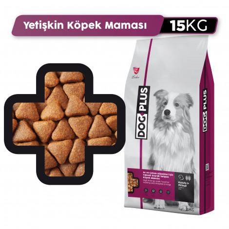 DogPlus Yüksek Enerjili Köpekler İçin Kuzu Etli Mama (15 KG)