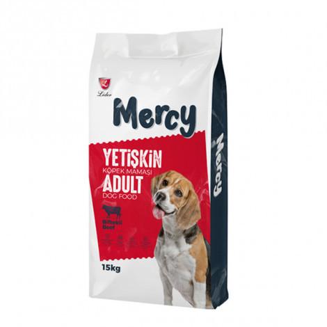 Mercy Yetişkin Köpekler İçin Biftekli Mama (15 KG)