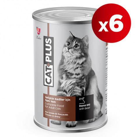 CatPlus Biftekli Kedi Konservesi 415 Gr x 6 Adet