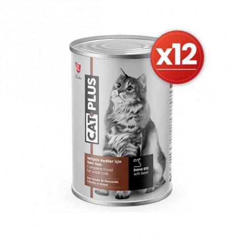 CatPlus Biftekli Kedi Konservesi 415 Gr x 12 Adet