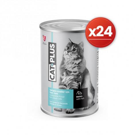 CatPlus Balıklı Kedi Konservesi 415 Gr x 24 Adet