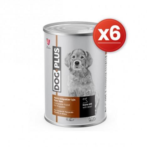 DogPlus Biftekli Yavru Köpek Konservesi 415 Gr x 6 Adet